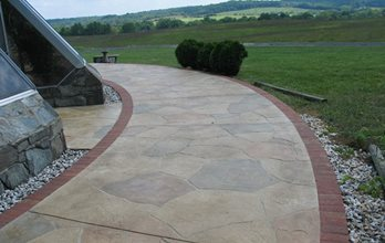 Stamped Concrete Test SUNDEK of Washington