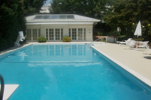 white house pool deck washington va - Decorative Concrete ...