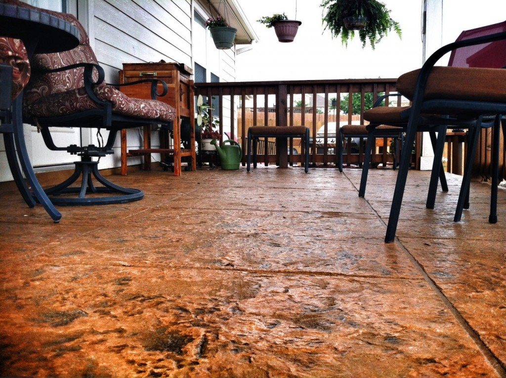 SunRestore for stamped concrete