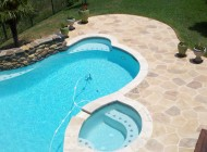 Pool deck with Sundek Coating