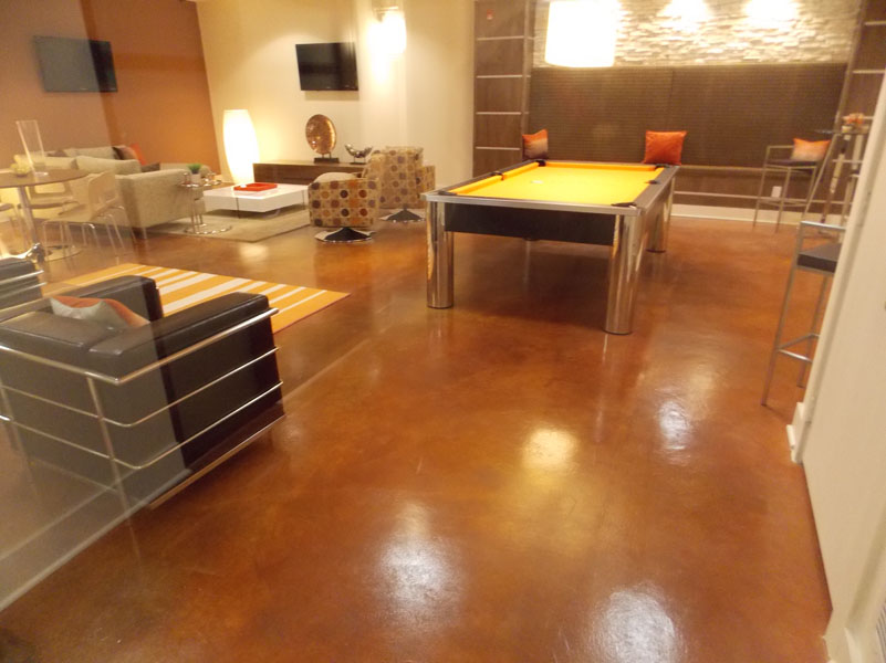 Indoor sundek concrete coatings and concrete repair - Interior concrete floor resurfacing ...