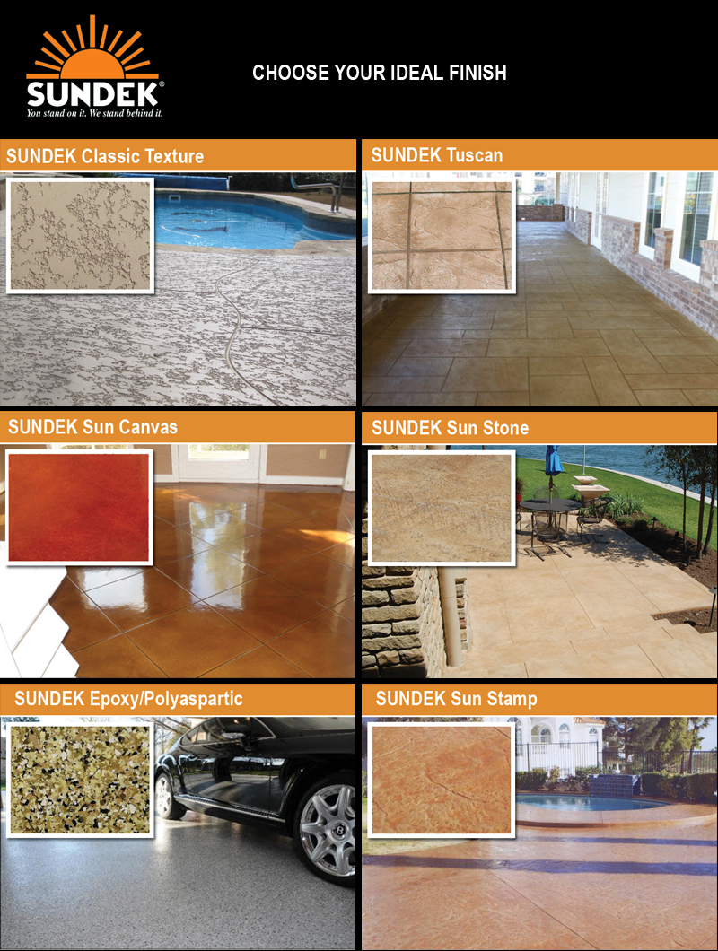 Decorative concrete surfaces