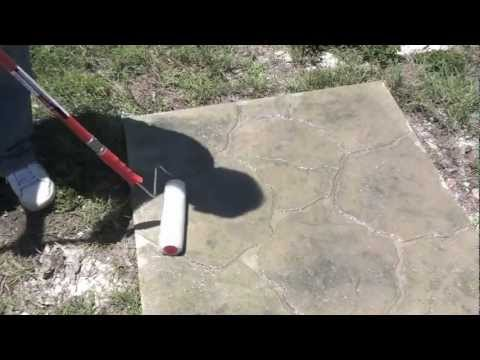 Applying Sealer to Decorative Concrete