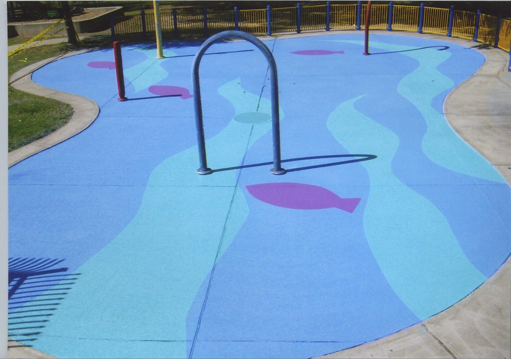 Outdoor Concrete Colors in water park