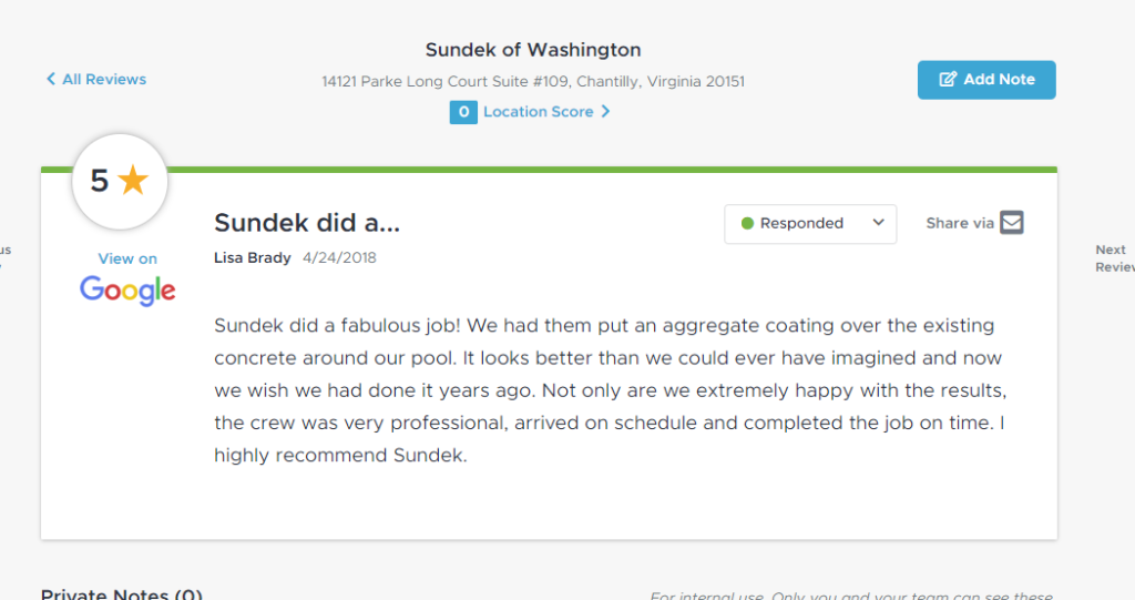 Sundek of Washington Review