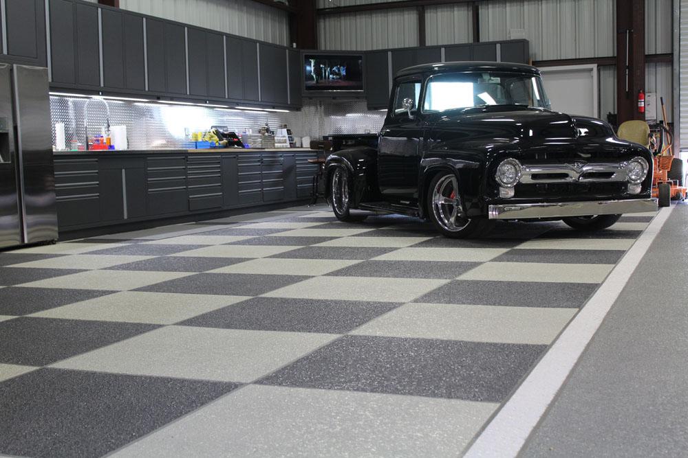 Garage concrete coatings