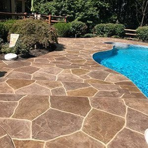 Pool deck in Chantilly, VA