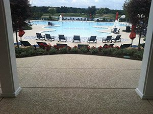 SunStamp pool deck coating