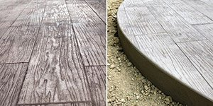 stamped concrete wood plank