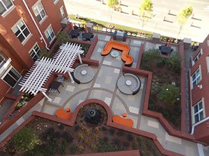 apartment complex patio