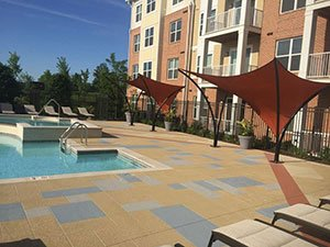 apartment pool deck
